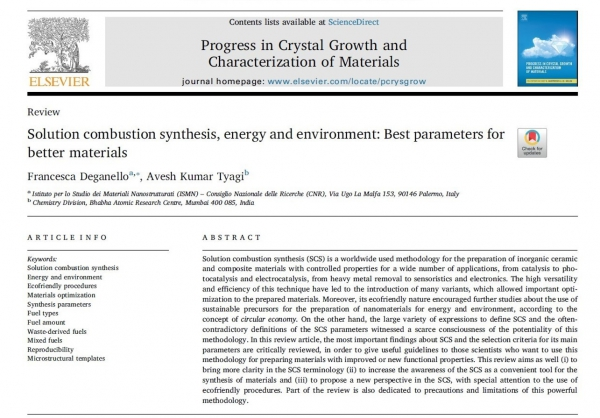 REVIEW ON SOLUTION COMBUSTION SYNTHESIS